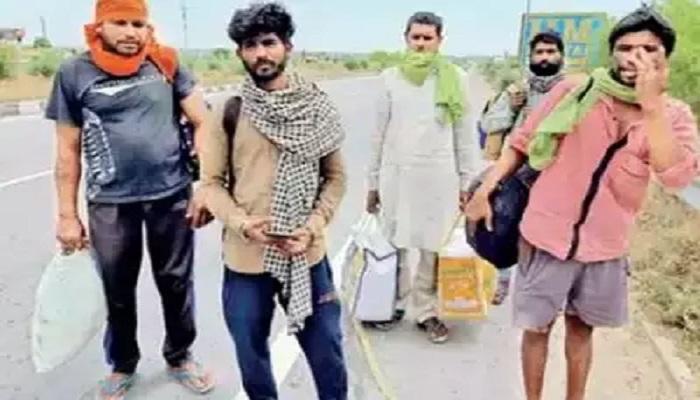 कोटा से 800 किलोमीटर का सफर तय कर पांच दिन में अपने घर रोहतक पहुंचे 5 मजदूर