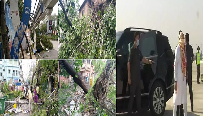 पीएम मोदी 1 चक्रवाती तूफान अम्फान से हुई तबाही का जायजा लेने पंश्चिम बंगाल के लिए निकले पीएम मोदी