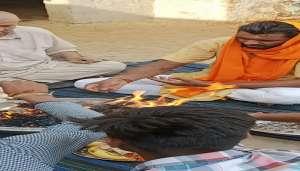 drashan 2 कोरोना से मुक्ति पाने के लिए हरियाणा के युवा ने की महायज्ञ..