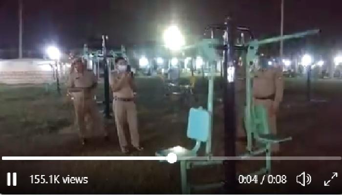 ghost 1 लॉकडाउन में जिम करता दिखा भूत वीडियो को देख पुलिस के उड़े होश..