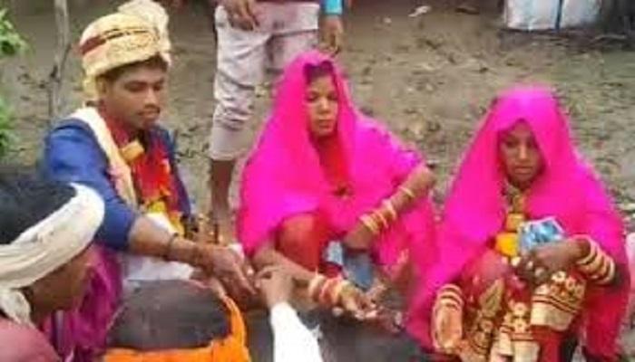 marrige 1 1 मध्य प्रदेश में एक लड़के के साथ दो लड़कियों ने रचाई शादी..