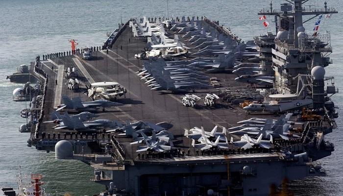 sauth china see अमेरिका का चीन को करारा जवाब, साउथ चीन सी पर तैनात किए अपने परमाणु हथियारों से लैस फाइटर जेट्स