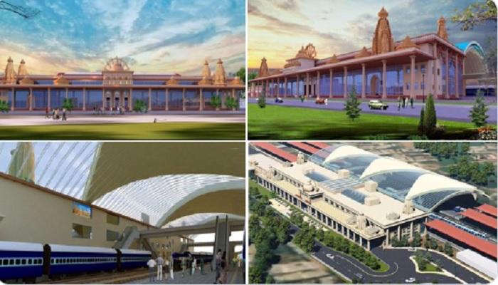 ayodhiya staition बिल्कुल राम मंदिर जैसा दिखने वाला है अयोध्या स्टेशन, पियूष गोयल ने किया ट्विट