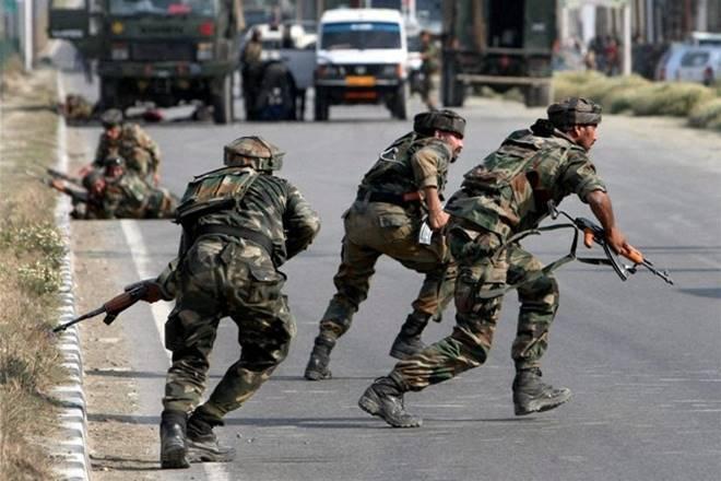 श्रीनगर में सुरक्षाबलों