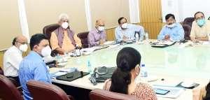 lg meeting at secretriat 1 जम्मू शहर मेें मेट्रो ट्रेन जल्द , परियोजना की बैठक