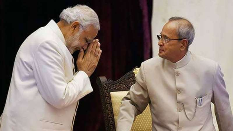 pranav mukharji narendra modi बहुमुखी होने के साथ-साथ मजाकिया भी थे प्रणब मुखर्जी: मोदी