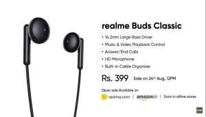 realme 2 Realme के Realme Buds Classic इयरफोन की सस्ती कीमत ने लोगों के उड़ाए होश..