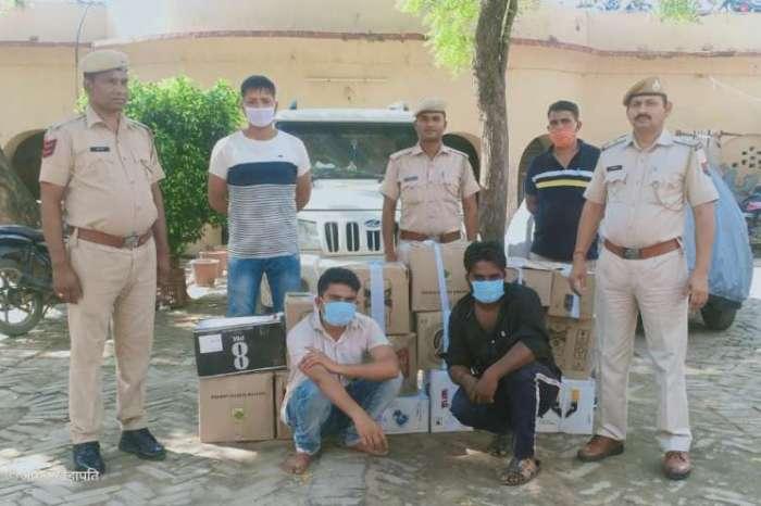 अंग्रेजी शराब की 16 पेटियों से भरी बोलेरो गाड़ी सहित दो मुलजिम गिरफ्तार