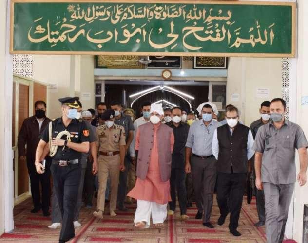 LG Manoj Sinha Hazrtabal Shrine उपराज्यपाल ने हजरत बल में मांगी शांति की दुआ