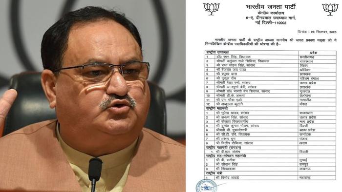 BJP Leaders List में 12 राष्ट्रीय उपाध्यक्षों के साथ राजनीतिक हित साधेगी भाजपा