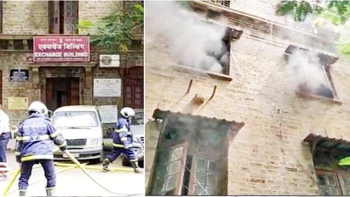 NCB दफ्तर के निचले तल पर एक्सचेंज भवन में लगी आग