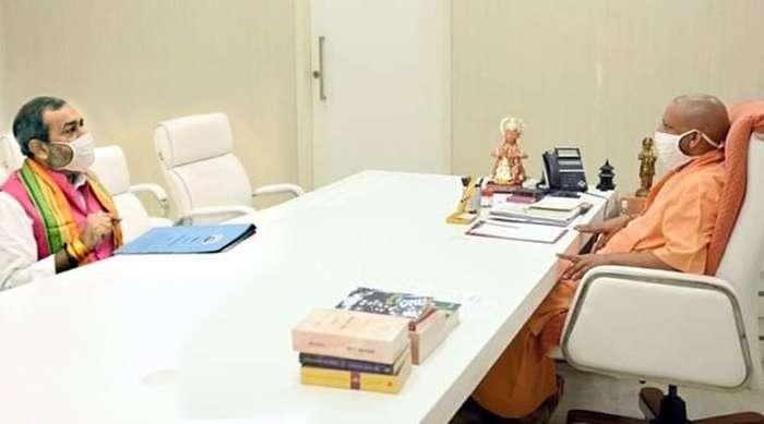 योगी से मिले सुनील भराला, परशुराम धाम की मांग