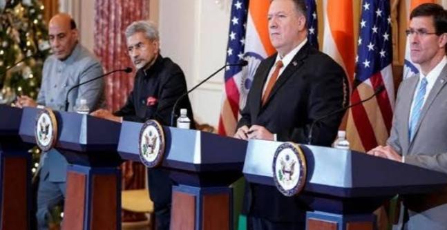 अमेरिका के दोनों मंत्री पहुंचे दिल्ली, भारतीय रक्षा मंत्री और विदेश मंत्री ने की मेजबानी