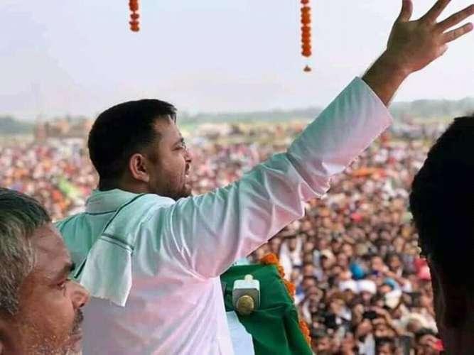 FB IMG 16035673712425141 प्रतिपक्ष नेता तेजस्वी यादव ने जनसभा को किया संबोधित