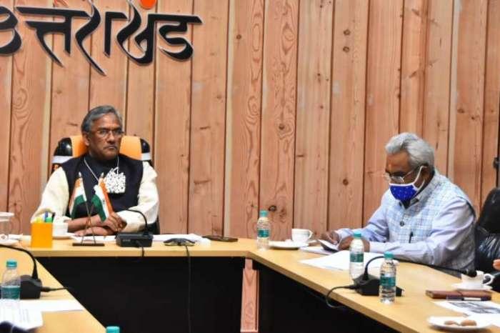 सीएम त्रिवेन्द्र सिंह रावत ने की शहरी विकास एवं आवास विभाग की समीक्षा