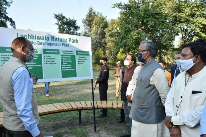 मुख्यमंत्री ने किया लच्छीवाला नेचर पार्क रिडेवलपमेंट कार्यों का निरीक्षण