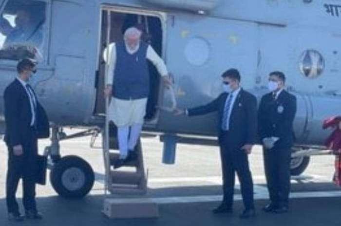 पीएम नरेंद्र मोदी एक दिन के दौरे पर पहुंचे कच्छ, आज करेंगे डिसेलिनेशन प्लांट का उद्धाटन