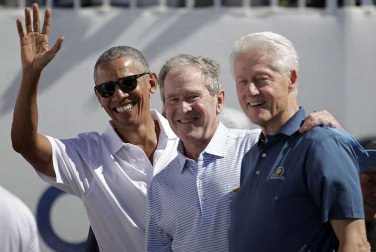 Barack Obama George W. Bush Bill Clinton 1 CORONA VACCINE: बराक ओबामा ने किया वॉलिंटियर, लेंगे वैक्सीन की डोज़
