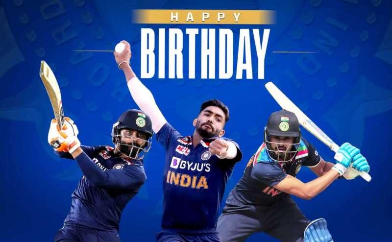 indian team HAPPY BIRTHDAY: इंडियन टीम के तीन खिलाड़ियों का जन्मदिन आज, मिल रही खूब बधाईयां