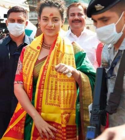 कंगना पहुंची सिद्धिविनायक मंदिर, बोलीं- मुंबई में रहने के लिये मुझे सिर्फ गणपति की अनुमति चाहिए